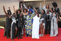 Nadege, Beausson-Diagne, Mata Gabin, Maimouna Gueye, Eye Haidara, Rachel Khan, Aissa Maiga, Sara Martins, Marie Philomene Nga, Sabine Pakora, Firmine Richard, Sonia Rolland, Maggaiyia Silberfeld, Shirley Souagnon, Assa Sylla, Karidja Toure, France Zobba Authors of the book Noire Nest Pas Mon Métier (Black is Not My Job) attend the screening of Burning during the 71st annual Cannes Film Festival at Palais des Festivals on May 16, 2018 in Cannes, France. Photo by Shootpix/ABACAPRESS.COM