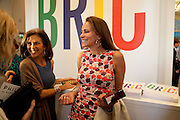 CLEO SHAND; ANDREA DELLAL, Phillips de Pury and Company.- BRIC- Exhibition and auction celebrating Brazil, Russia, India and China at the Saatchi Gallery. London.  17 April 2010.