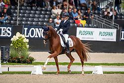 Verreet Katrien, BEL, Oblix van de Kempenhoeve<br /> World Championship Young Dressage Horses - Ermelo 2019<br /> © Hippo Foto - Dirk Caremans<br /> Verreet Katrien, BEL, Oblix van de Kempenhoeve