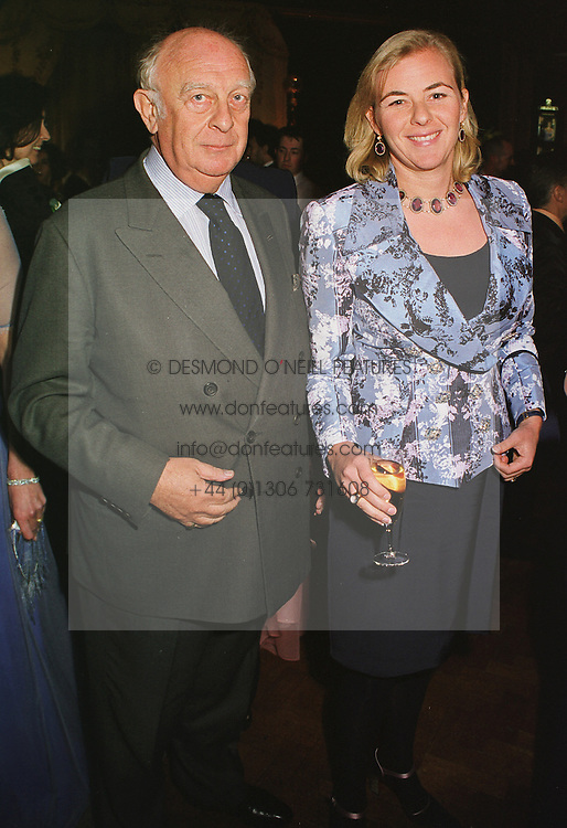 COUNTESS DORA DELLA GHERARDESCA and her father PRINCE RUPERT von LOWENSTEIN, at a party in London on 22nd February 1999.MON 64