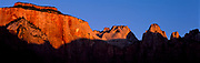 Red rock face and shadow, Zion National Park, Utah, USA, 1997
