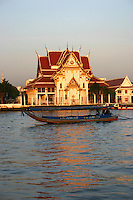 Chao Phrya River Water Taxi - In Bangkok, the Chao Phraya is a major transportation artery for a vast network of ferries and water taxis, also known as longtails. More than 15 boat lines operate on the river and canals of the city, including commuter ferry lines.