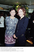 Barbara Black & Mrs. Johnson.<br />Duckworth Centenary Dinner. Dorchester, London. 14/10/98. <br />© Copyright Photograph by Dafydd Jones<br />66 Stockwell Park Rd. London SW9 0DA<br />Tel 0171 733 0108