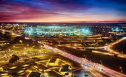 Estádio Nacional Mané Garrincha, é um estádio de futebol e arena multiuso brasileiro, situado na cidade de Brasília, no Distrito Federal. Inaugurado em 1974, o estádio possuía capacidade total para 45.200 pessoas. Após a reforma de 2010-2013, sua capacidade foi aumentada para 71.400 pessoas, tornando-se o segundo maior estádio do Brasil. FOTO: Jefferson Bernardes/Preview.com
