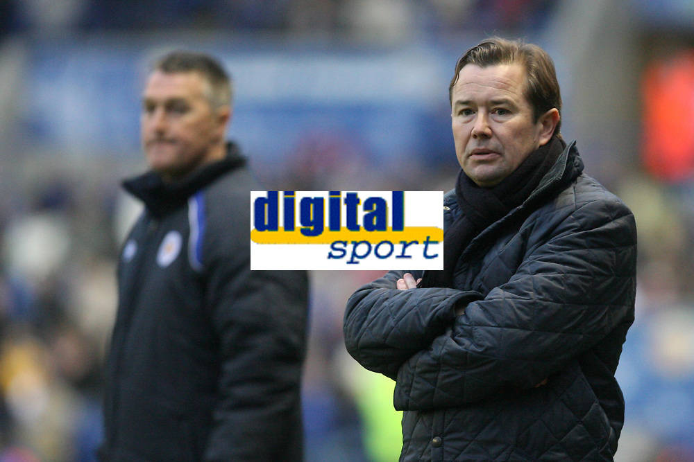 Photo: Pete Lorence.<br />Leicester City v Coventry City. Coca Cola Championship. 17/02/2007.<br />Coventry's caretaker manager, Adrian Heath, and Rob Kelly watch over the match.
