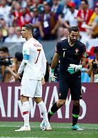 Cristiano Ronaldo (Portugal) and Rui Patricio (Portugal)<br /> Moscow 20-06-2018 Football FIFA World Cup Russia  2018 <br /> Portugal - Morocco / Portogallo - Marocco <br /> Foto Matteo Ciambelli/Insidefoto