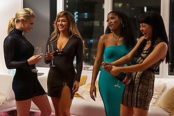 RELEASE DATE: September 13, 2019 TITLE: Hustlers STUDIO: Annapurna Pictures DIRECTOR: Lorene Scafaria PLOT: Inspired by the viral New York Magazine article, Hustlers follows a crew of savvy former strip club employees who band together to turn the tables on their Wall Street clients. STARRING: LILI REINHART as Annabelle, JENNIFER LOPEZ as Ramona, KEKE PALMER as Mercedes, CONSTANCE WU as Destiny. (Credit Image: © Annapurna Pictures/Entertainment Pictures/ZUMAPRESS.com)