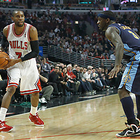 26 March 2012: Chicago Bulls point guard C.J. Watson (7) looks to pass the ball during the Denver Nuggets 108-91 victory over the Chicago Bulls at the United Center, Chicago, Illinois, USA. NOTE TO USER: User expressly acknowledges and agrees that, by downloading and or using this photograph, User is consenting to the terms and conditions of the Getty Images License Agreement. Mandatory Credit: 2012 NBAE (Photo by Chris Elise/NBAE via Getty Images)