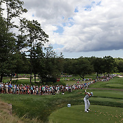 Rory McIlroy tees off from the eighth hole during the fourth round of theThe Barclays Golf Tournament at The Ridgewood Country Club, Paramus, New Jersey, USA. 24th August 2014. Photo Tim Clayton
