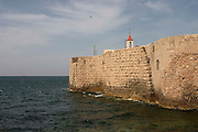 The fortified wall of Akko, Israel