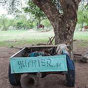 Cart labeled as a 'Hummer' in the Venda Village of Hamakuya. Venda village in Limpopo Province, South Africa.