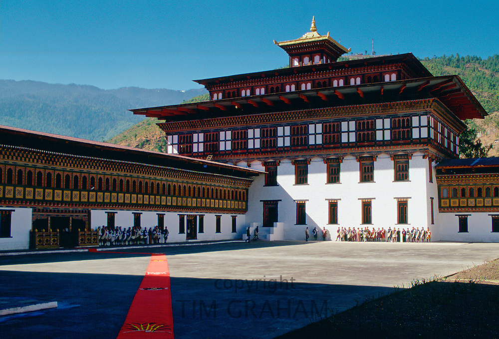Tashichho Dzong , home of Government, Royal Palace and religious centre, Thimpu, Bhutan