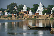 Bateshwar Temple<br /> Bateshwar Village, Agra District on banks of Yamuna River<br /> Uttar Pradesh, India