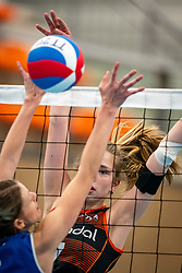 Sanne Wagener #7 of Talent Team in action during the first league match in the corona lockdown between Talentteam Papendal vs. Sliedrecht Sport on January 09, 2021 in Ede.