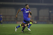 AFC Wimbledon striker Tyrone Barnett (23) during the EFL Trophy match between AFC Wimbledon and U23 Brighton and Hove Albion at the Cherry Red Records Stadium, Kingston, England on 6 December 2016. Photo by Stuart Butcher.