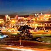 Panorama photo of Kansas City, Missouri's Country Club Plaza Lights. December 2015.