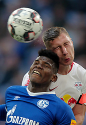 March 16, 2019 - Gelsenkirchen, Germany - Willi Orban of RB Leipzig, right, and Breel Embolo of Schalke 04 are seen in action during the German Bundesliga soccer match between FC Schalke 04 and RB Leipzig in Gelsenkirchen. (Credit Image: © Osama Faisal/SOPA Images via ZUMA Wire)