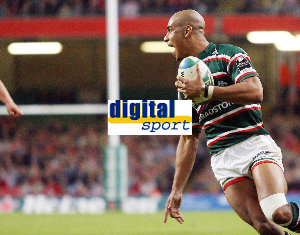 Photo: Rich Eaton.<br /> <br /> Cardiff Blues v Leicester Tigers. Heineken Cup. 29/10/2006. Tom Varndell