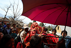Surita Shreshta Balami, 16, screams out in protest as the wedding procession carries her to her new home with Bishal Shreshta Balami, 15 Kagati Village, Kathmandu Valley, Nepal on Jan. 29, 2007. Early marriage is a harmful traditional practice common in Nepal. The Kagati village, a Newar community, is most well known for its propensity towards this practice. Many Hindu families believe blessings will come upon them if marry off their girls before their first menstruation.