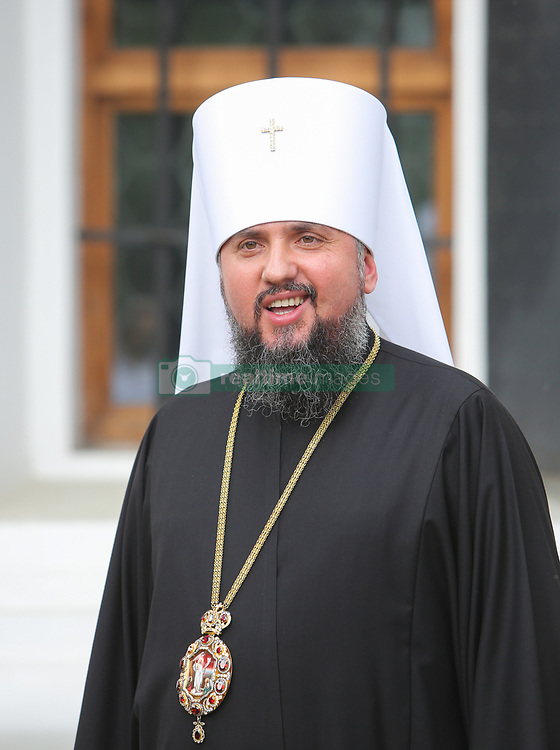 May 24, 2019 - Kyiv, Ukraine - Metropolitan of the Orthodox Church of Ukraine Epiphanius of Kyiv and All Ukraine talks to media after the Synod in Kyiv, Ukraine, May 24, 2019. After the honorary Patriarch of the Orthodox Church of Ukraine, Filaret had expressed his desire to restore the structure of the liquidated Ukrainian Orthodox Church of the Kyiv Patriarchate, Metropolitan of the Orthodox Church of Ukraine Epiphanius of Kyiv and All Ukraine had to call for church Synod - Council of Orthodox Church of Ukraine. (Credit Image: © Sergii Kharchenko/ZUMA Wire)