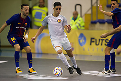 November 22, 2017 - Pescara, PE, Italy - Khalid Zouyne of 't Knooppunt in action during the Elite Round of UEFA Futsal Cup 17/18 match between FC Barcelona and ZVV 'T Knoppount at Giovanni Paolo II arena on November 22, 2017 in Pescara, Italy. (Credit Image: © Danilo Di Giovanni/NurPhoto via ZUMA Press)