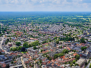 Nederland, Gelderland, Gemeente Lochem, 21–06-2020; Stadsgezicht, het centrum van de stad met onder andere De Gudulakerk. <br /> Cityscape, the center of the city including De Gudulakerk.<br /> <br /> luchtfoto (toeslag op standaard tarieven);<br /> aerial photo (additional fee required)<br /> copyright © 2020 foto/photo Siebe Swart