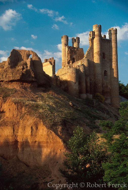 SPAIN, CASTILE AND LEON Valencia de Don Juan; an evocative 15thC. Gothic castle on the Rio Esla, south of Leon
