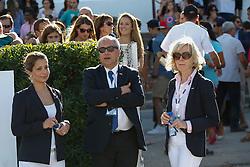 HRH Princess Haya (JOR), Ingmar De Vos (BEL), Grania Willis (IRL)<br /> Furusiyya FEI Nations Cup Jumping Final <br /> CSIO Barcelona 2013<br /> © Dirk Caremans