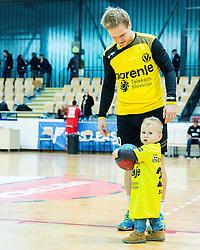 Stas Skube of RK Gorenje with his son after the handball match between RD Slovan and RK Gorenje Velenje in Round #10 of 1. NLB Leasing liga 2015/16, on November 13, 2015 in Arena Kodeljevo, Ljubljana, Slovenia. Photo by Vid Ponikvar / Sportida