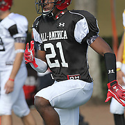 Justin Scott Wesley during the practice session at the Walt Disney Wide World of Sports Complex in preparation for the Under Armour All-America high school football game on December 3, 2011 in Lake Buena Vista, Florida. (AP Photo/Alex Menendez)