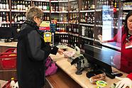Strefa bezpieczeństwa w sklepie spożywczym