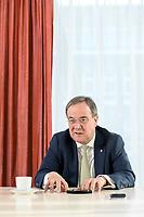 27 NOV 2020, BERLIN/GERMANY:<br /> Armin Laschet, CDU, Ministerpraesident Nordrhein-Westfalen, waehrend einem Interview, Landesvertretung Nordrhein-Westfalen<br /> IMAGE: 20201127-01-021