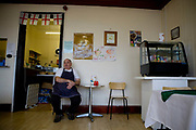 A cafe chef at Crumbles Cafe along the A12 on the 26th October 2009 in Lowestoft in the United Kingdom.