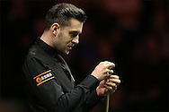 Mark Selby (Eng) looking on. Barry Hawkins (Eng) v Mark Selby (Eng) , Quarter-Final match at the Dafabet Masters Snooker 2017, at Alexandra Palace in London on Friday 20th January 2017.<br /> pic by John Patrick Fletcher, Andrew Orchard sports photography.