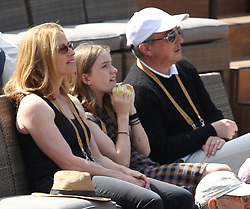 March 9, 2019 - Indian Wells, California, United States Of America - INDIAN WELLS, CALIFORNIA - MARCH 09:  Larry Ellison who is a co-founder and the executive chairman and chief technology officer of Oracle Corporation and actress Elisabeth Shue attend  the men's singles second round match on day six of the BNP Paribas Open at the Indian Wells Tennis Garden on March 09, 2019 in Indian Wells, California..People: Elisabeth Shue. (Credit Image: © SMG via ZUMA Wire)