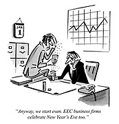 """""""Anyway, we start even. EEC business firms celebrate New Year's Eve too."""""""