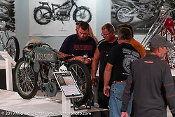 The What's the Skinny Exhibition (2019 iteration of the Motorcycles as Art annual series) was popular with guests at the Sturgis Buffalo Chip, especially in the evenings before the big concerts during the Sturgis Black Hills Motorcycle Rally. SD, USA. Thursday, August 8, 2019. Photography ©2019 Michael Lichter.