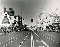 1955 Hollywood Blvd. & Wilcox Ave. at Christmastime