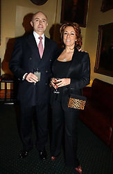 ROGER MOSS and SUSAN BERNERD at a reception to support The Hyde Park Appeal at the Officers Mess, Hyde Park Barracks, London SW1 on 24th January 2007.<br /><br />NON EXCLUSIVE - WORLD RIGHTS
