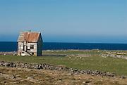 Deserted house in wilderness. Raufarhöfn. Iceland.