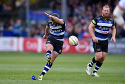 George Ford of Bath Rugby kicks for the posts - Mandatory byline: Patrick Khachfe/JMP - 07966 386802 - 17/10/2015 - RUGBY UNION - The Recreation Ground - Bath, England - Bath Rugby v Exeter Chiefs - Aviva Premiership.