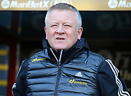 Chris Wilder manager of Sheffield Utd during the Premier League match at Selhurst Park, London. Picture date: 1st February 2020. Picture credit should read: Paul Terry/Sportimage