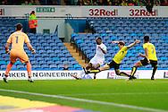 Burton's Ben Turner (6) blocks Leeds United's Hadi Sacko (24) during the EFL Sky Bet Championship match between Leeds United and Burton Albion at Elland Road, Leeds, England on 29 October 2016. Photo by Richard Holmes.