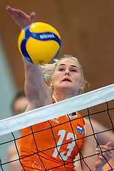 Hester Jasper of Netherlands in action during the Women's friendly match between Netherlands and Belgium at Sporthal De Basis on may 19, 2021 in Sliedrecht, Netherlands (Photo by RHF Agency/Ronald Hoogendoorn)
