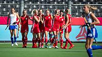 ANTWERP - BELFIUS EUROHOCKEY Championship.  women  England v Belarus (4-3) . Belarus celebrating a goal. (BLR) .WSP/ KOEN SUYK