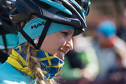 Sara Olsson (INPA Bianchi)  Drentse 8, a 140km road race starting and finishing in Dwingeloo, on March 13, 2016 in Drenthe, Netherlands.