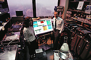 Human Genome Project: Charles R. Cantor and Cassandra Smith, American biologists, photographed in a laboratory at Columbia University, New York, in May 1989. Cantor's area of research is human genetics. With colleagues at Columbia, he has contributed to work on the human genome project, an ambitious plant to construct a complete biochemical document detailing every gene expressed on each of the 23 pairs of human chromosomes. Smith's area of research is human genetics. With colleagues at Columbia, she has contributed to work on the human genome project, an ambitious plant to construct a complete biochemical document detailing every gene expressed on each of the 23 pairs of human chromosomes. MODEL RELEASED.