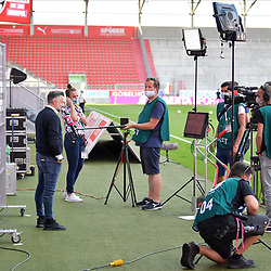 Spiel am 35 Spieltag in der Saison 2019-2020 in der 3. Bundesliga zwischen dem FC Ingolstadt 04 und dem SV Waldhof Mannheim am 24.06.2020 in Ingolstadt. <br /> <br /> Trainer Tomas Oral (FC Ingolstadt 04) vor dem Spiel im Interview mit Magenta Sport<br /> <br /> Foto © PIX-Sportfotos *** Foto ist honorarpflichtig! *** Auf Anfrage in hoeherer Qualitaet/Aufloesung. Belegexemplar erbeten. Veroeffentlichung ausschliesslich fuer journalistisch-publizistische Zwecke. For editorial use only. DFL regulations prohibit any use of photographs as image sequences and/or quasi-video.