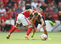 Thomas Lam on Nottingham Forest (L) and Matt Hinchcliffe of Hull City in action - Mandatory by-line: Jack Phillips/JMP - 30/07/2016 - FOOTBALL - The City Ground - Nottingham, England - Nottingham Forest v Hull City - Pre-Season Friendly