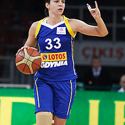 Lotos Gdynia's Ivana JALCOVA during their woman Euroleague group A matchday 5 Galatasaray between Lotos Gdynia at the Abdi Ipekci Arena in Istanbul at Turkey on Wednesday, November 09 2011. Photo by TURKPIX
